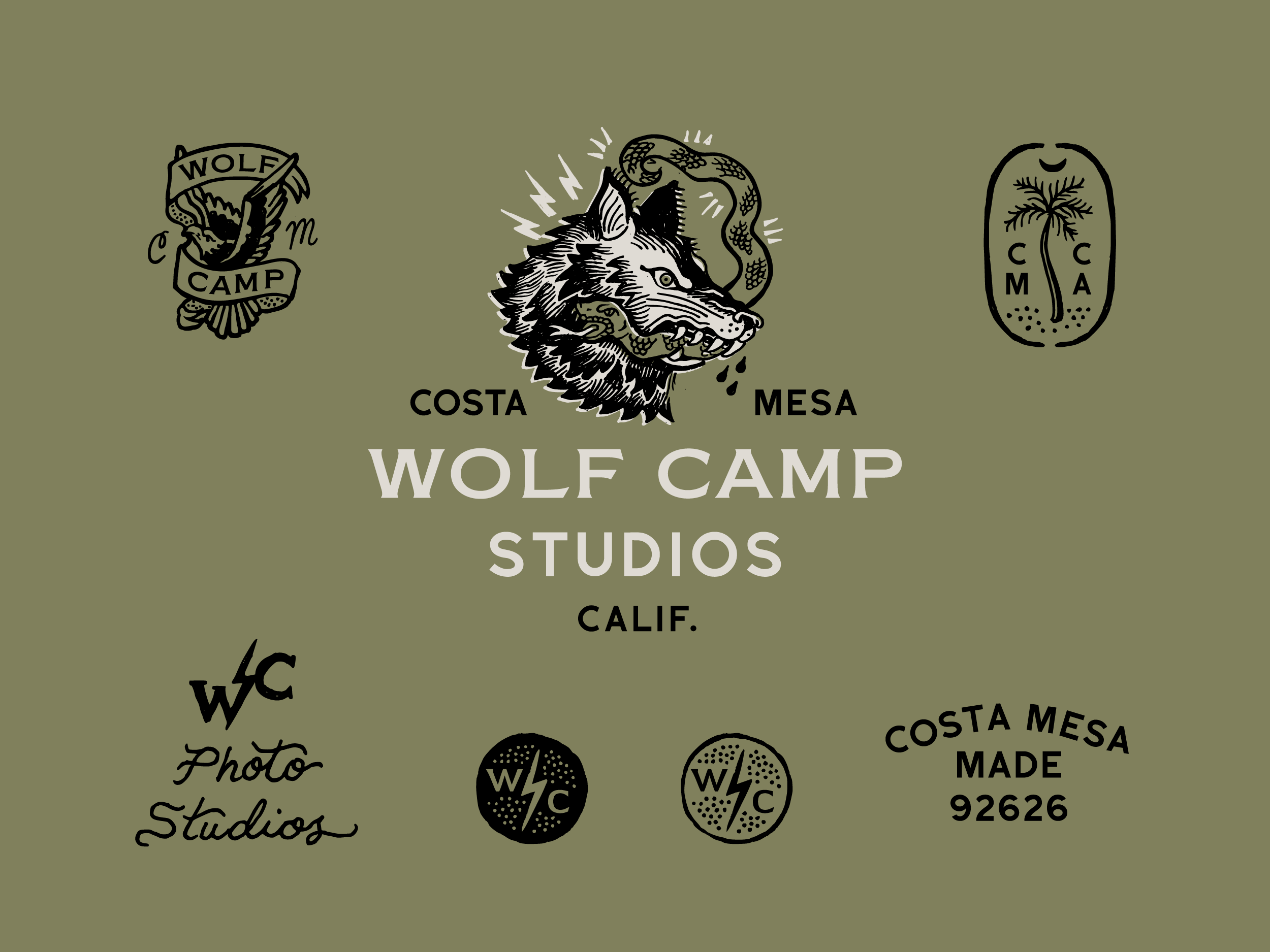 Wolf Camp logos in color