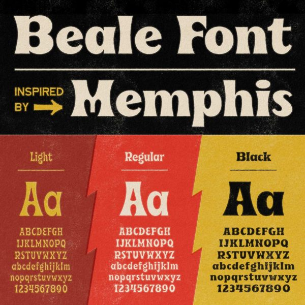 Beale Font inspired by Memphis by Hoodzpah