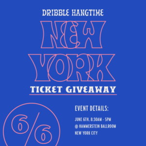 Dribbble Hangtime NYC Giveaway flyer