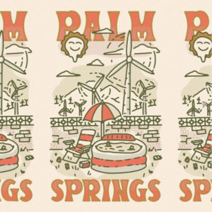 Palm Springs towel by Mark Johnston using Beale font by Hoodzpah