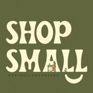 Shop Small illustration sign by Mark Johnston using Beale font by Hoodzpah