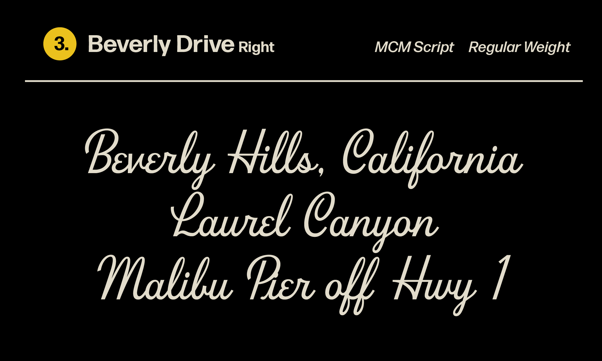 HoodFonts Bundle v1 Beverly drive font right regular bundle