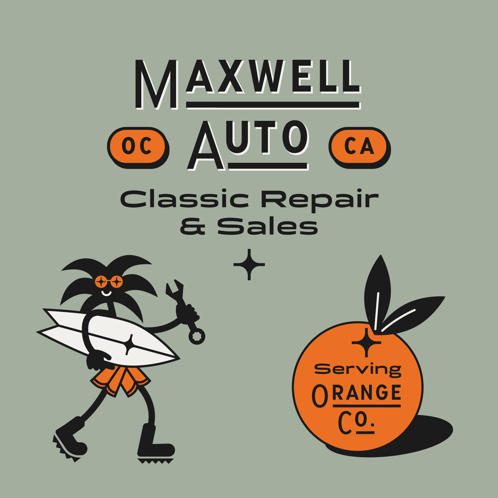 Chapman Ave Font Maxwell Auto Logo system color